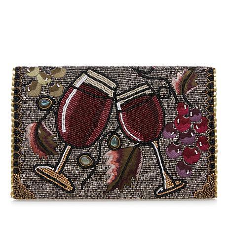 Mary Frances Bead and Gemstone Vino Crossbody