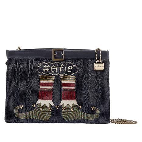 Mary Frances Handmade Beaded Hashtag Elfie Crossbody