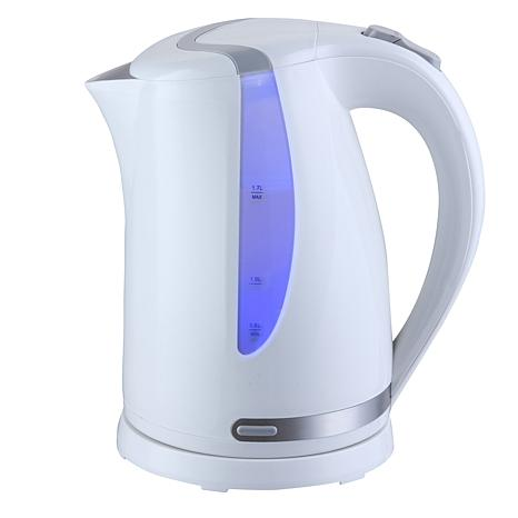MegaChef 1.7 Liter Plastic Electric Tea Kettle - White