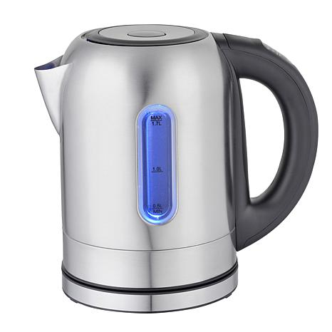 MegaChef 1.7 Liter Stainless Steel Electric Tea Kettle