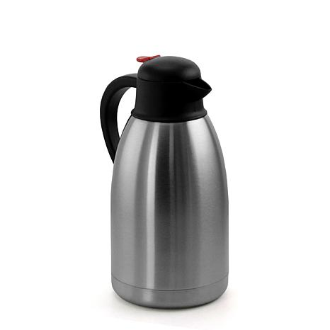 MegaChef 2L Stainless Steel Thermal Beverage Carafe for Coffee and Tea