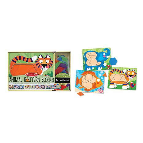 Melissa & Doug Animal-Pattern Blocks