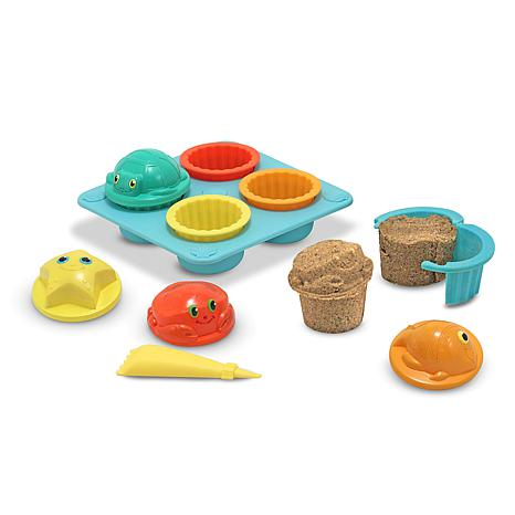 Melissa & Doug Seaside Sidekicks Sand Play Cupcake Set