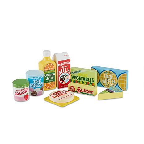Wooden Fridge Food Set 6727149 Hsn