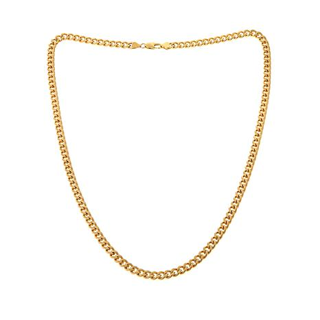 Men's 7.5mm Goldtone Stainless Steel Curb Chain
