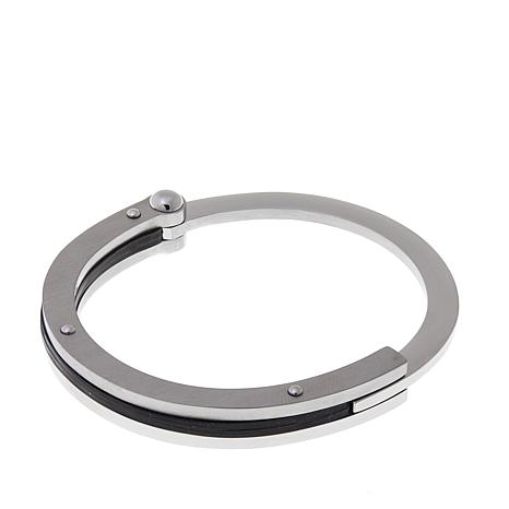Men's Stainless Steel Handcuff Bangle Bracelet