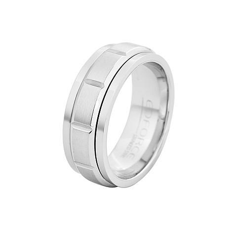 Men's Stainless Steel Matte Spinner Ring