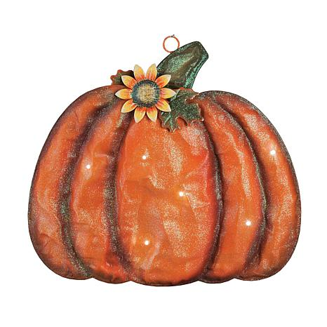 Meshed Pumpkin Decor w- LED