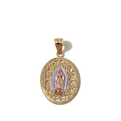 Michael Anthony® 10K Lady of Guadalupe Scrolled Pendant