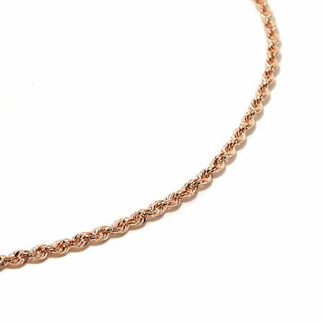 "Michael Anthony® 10K Rose Gold 18"" Rope Chain"