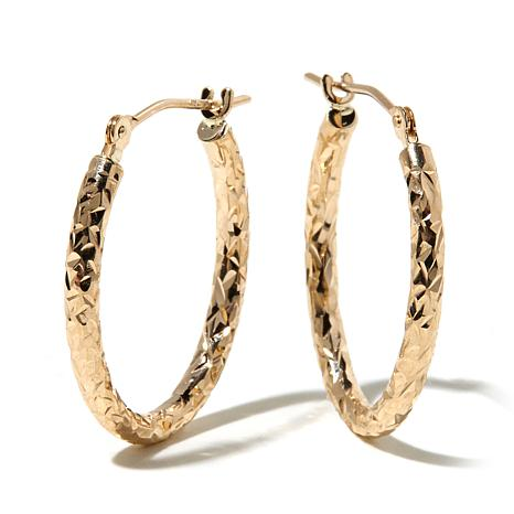 Michael Anthony Jewelry 10k 20mm Oval Hoop Earrings