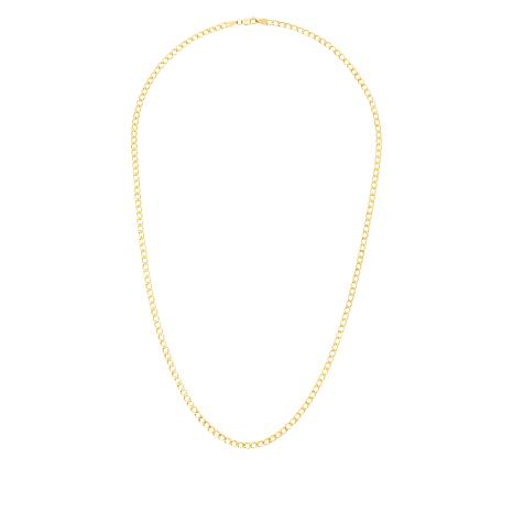 """Michael Anthony Jewelry® 10K 22"""" 3mm Curb Link Chain Necklace"""