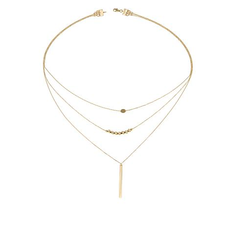 "Michael Anthony Jewelry® 10K 3-Strand Layered 23"" Necklace"