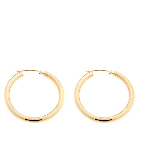 Michael Anthony Jewelry® 10K 30mm Polished Hoop Earrings