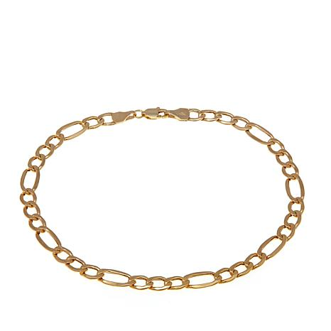 "Michael Anthony Jewelry® 10K Bold Figaro 8"" Bracelet"
