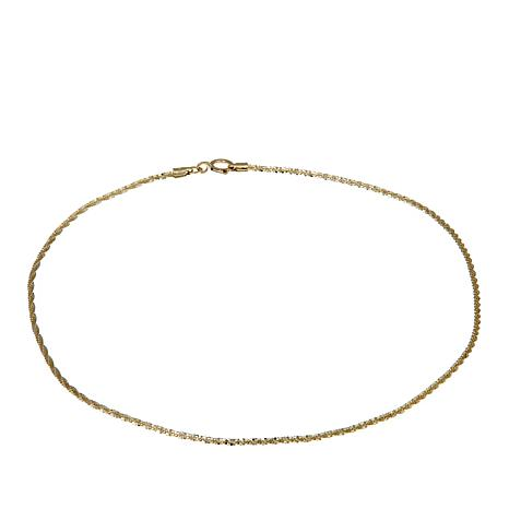 "Michael Anthony Jewelry® 10K Brilliant Chain 9"" Anklet"