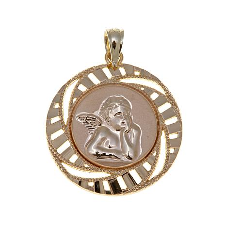 Michael Anthony Jewelry® 10K Diamond-Cut Cherub Pendant