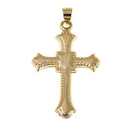 Michael Anthony Jewelry® 10K Diamond-Cut Etruscan Cross Pendant