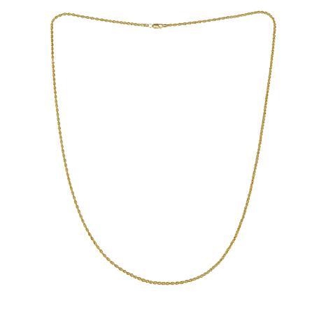 "Michael Anthony Jewelry® 10K Diamond-Cut Rope 24"" Necklace"