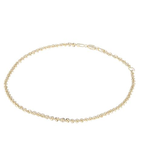 "Michael Anthony Jewelry® 10K Glitter Rope 9"" Anklet"