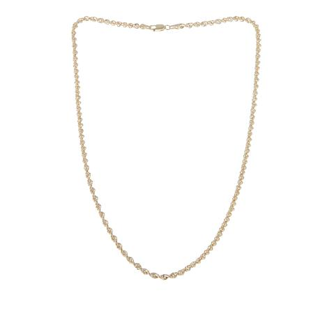 Michael Anthony Jewelry® 10K Glitter Rope Chain - 16""