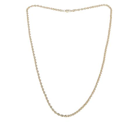 Michael Anthony Jewelry® 10K Glitter Rope Chain - 18""