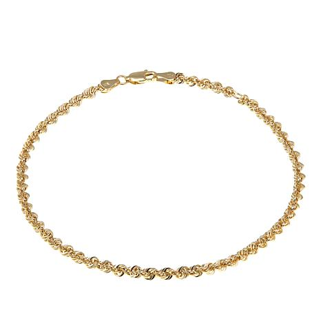 Michael Anthony Jewelry® 10K Glitter Rope Chain Anklet