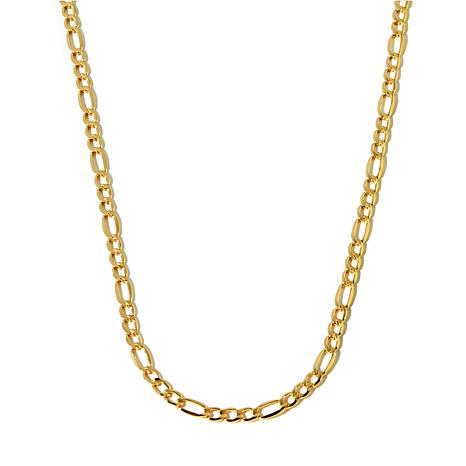 "Michael Anthony Jewelry® 10K Gold 5.45mm 3+1 Figaro 22"" Chain Necklace"