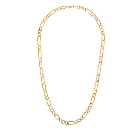 "Michael Anthony Jewelry® 10K Gold 7.2mm Figaro Chain 20"" Necklace"