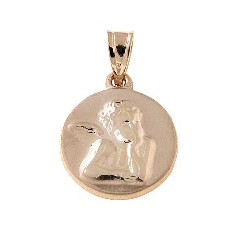 Michael Anthony Jewelry® 10K Gold Round Cherub Pendant
