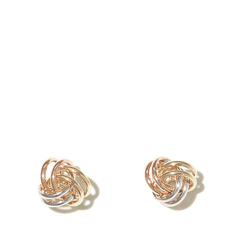 background catalog white diamond s center knot arizona polished leslie gold textured earrings love leslies