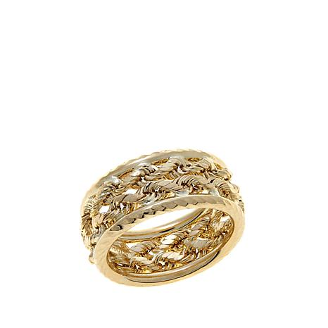 Michael Anthony Jewelry® 10K Radiant Rope Chain Ring
