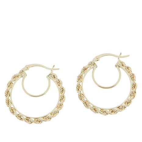 Michael Anthony Jewelry® 10K Rope Chain Hoop Earrings