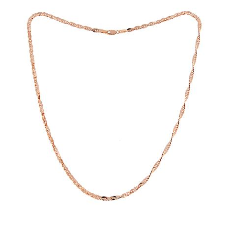 """Michael Anthony Jewelry® 10K Rose Gold Cleo Chain - 18"""""""