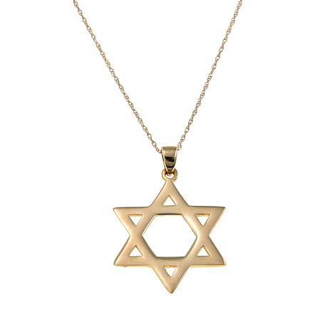 Michael anthony jewelry 10k star of david pendant with 18 for Star of david necklace mens jewelry