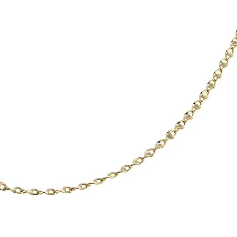 """Michael Anthony Jewelry® 10K Twisted Oval Mirror Chain 16"""" Necklace"""