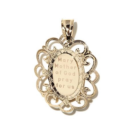 mother pendant jewelry mary for diamond tcw i medallion sterling silver less charm
