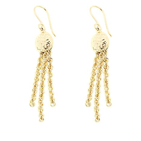 Michael Anthony Jewelry® 10K Wave Rope Chain Tassel Earrings