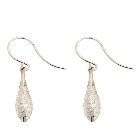 Michael Anthony Jewelry® 10K White Gold Diamond-Cut Drop Earrings