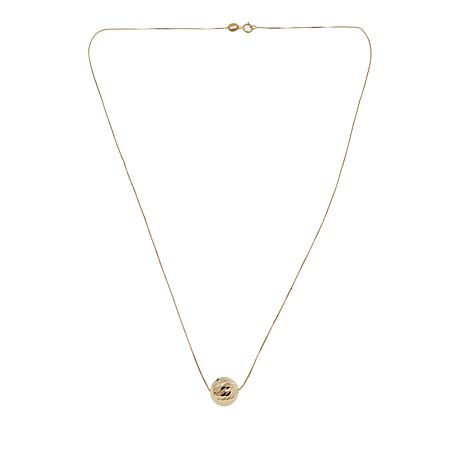 """Michael Anthony Jewelry® 14K 10mm Floating Bead 18"""" Necklace"""