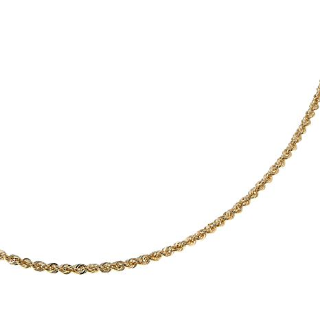 "Michael Anthony Jewelry® 14K Gold 1.85mm Rope Chain 16"" Necklace"