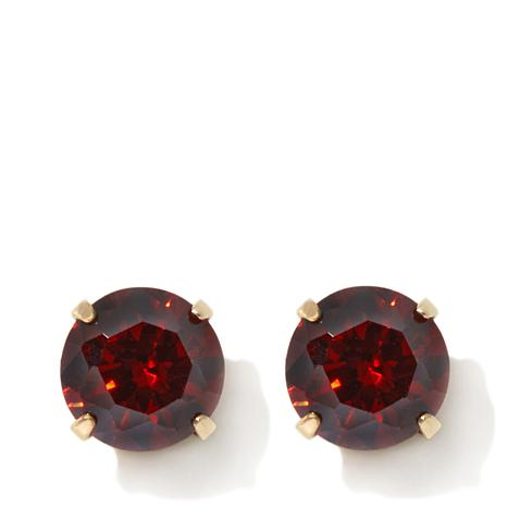 Michael Anthony Jewelry® 14K Kids .86ctw Garnet-Color CZ Stud Earrings