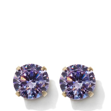 Michael Anthony Jewelry 14k Kids Alexandrite Color Cz Stud Earrings