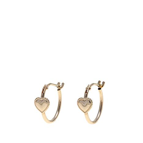 Michael Anthony Jewelry 14k Kid S Heart Hoop Earrings