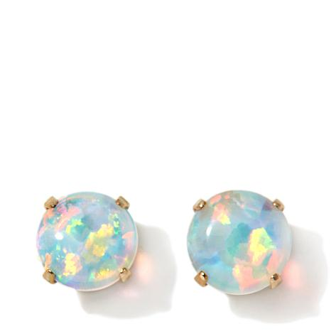 Michael Anthony Jewelry 14k Kids Simulated Opal Stud Earrings