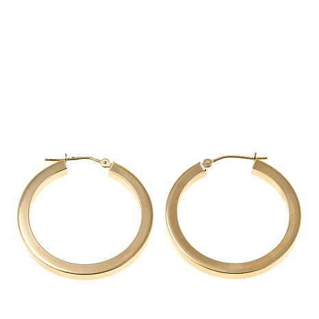 Michael Anthony Jewelry® 14K Square-Edge 30mm Hoop Earrings