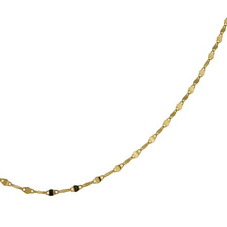 """Michael Anthony Jewelry® 14K Twisted Mirror Link 18"""" Chain Necklace"""