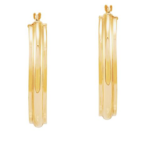 Michael Anthony Jewelry® 14K Yellow Gold Ribbed Hoop Earrings