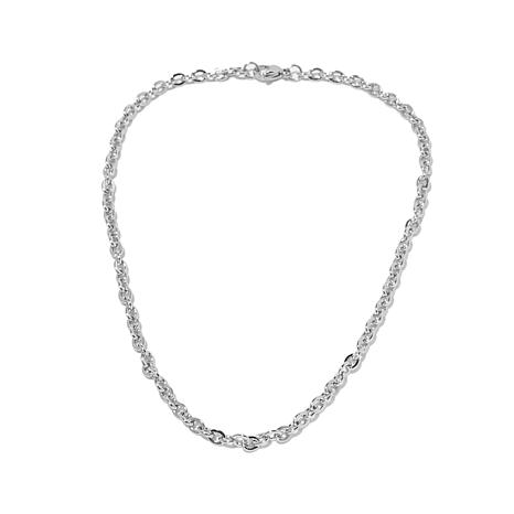 """Michael Anthony Jewelry® 16"""" Ribbed Cable Chain"""