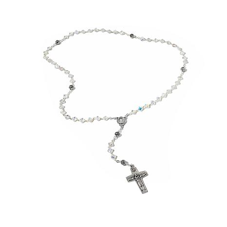"Michael Anthony Jewelry ® 18"" Crystal Bead Rosary"